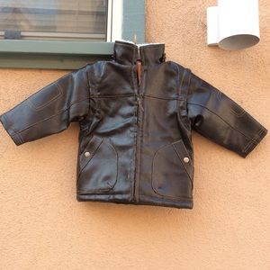 Macy's Jackets & Coats - Airplane Kid's Bomber Pleather Jacket / Vest Brown